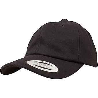FLEXFIT LAVPROFIL Melton uld Strapback far Cap - sort