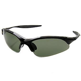 Okrossbar TR90 Frame polariserade lins semi Rimless Action Sport solglasögon