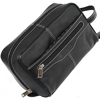 Pierre Cardin pelle lavare Bag - Black