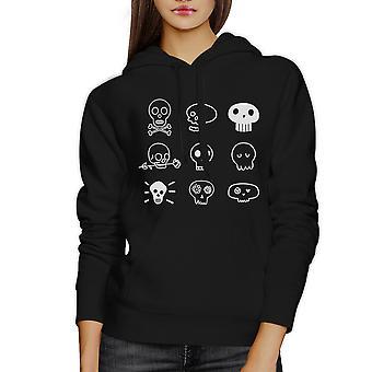 Skulls Hoodie Halloween Horror Nights Hoodie Unisex Black Pullover