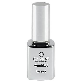 D'Orleac Top Coat Weeklac (Make-up , Cosmetics , Nails , Body  , Nail polish)