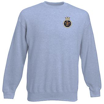 HMS Sentinel Embroidered Logo - Official Royal Navy Heavyweight Sweatshirt