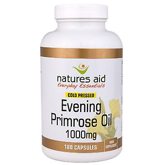 Naturer stöd Evening Primrose Oil 1000mg (9-10% GLA) kall pressad, 180 kapslar