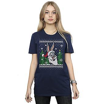 Looney Tunes kvinders Bugs Bunny jul Fair Isle kæreste Fit T-Shirt