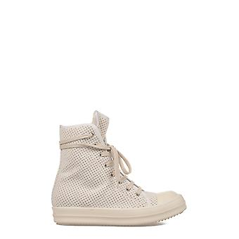 Rick Owens women's DS17S5800STAP11 white nylon Hi Top sneakers