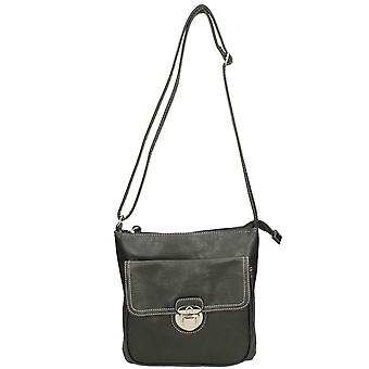 Ladies Lilley Shoulder Bag 90201 - Black Synthetic - One Size