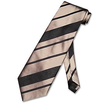 Vesuvio Napoli NeckTie Woven Striped Design Men's Neck Tie
