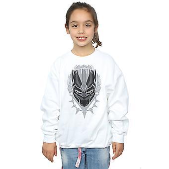 Marvel Girls Black Panther Head Sweatshirt