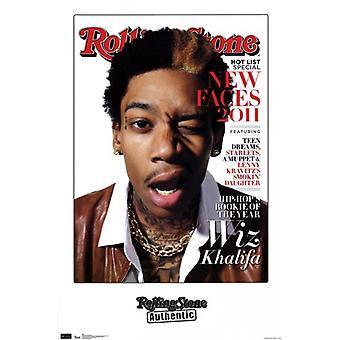 Rolling Stone - Wiz Khalifa 11 Poster Print