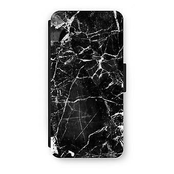 Samsung Galaxy S7 Flip Case - Black Marble 2