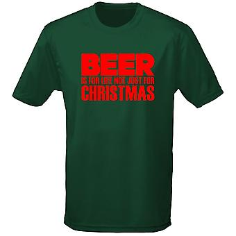 Beer Is Not Just For Christmas Xmas Mens T-Shirt 10 Colours (S-3XL) by swagwear