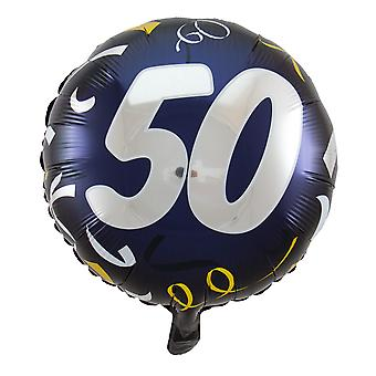 Foil balloon birthday number 50 great day about 45 cm