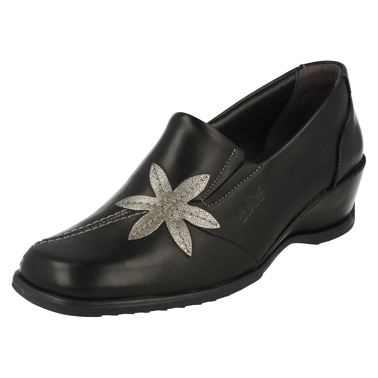mesdames suave intelligent glisse sur un wedge chaussures sheila sheila sheila 779e6f