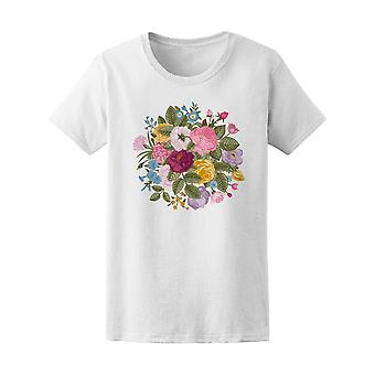 Vintage Floral Bouquet Doodle Tee Women's -Image by Shutterstock
