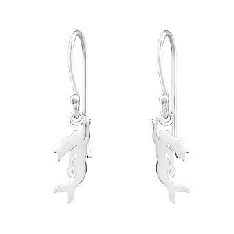 Mermaid - 925 Sterling Silver Plain Earrings - W32157X