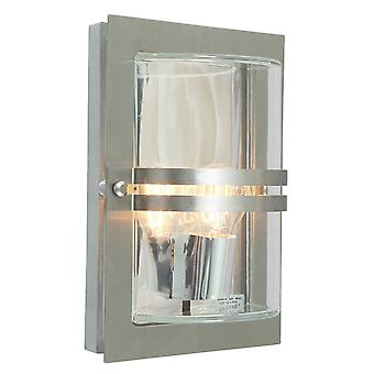 Stainless Steel E27  Clear - 1 x 75W E27