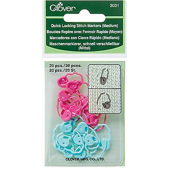 Quick Locking Stitch Markers-Medium 20/Pkg