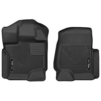 Husky Liners Front Floor Liners Fits 17-18 F250/F350 Crew/SuperCab