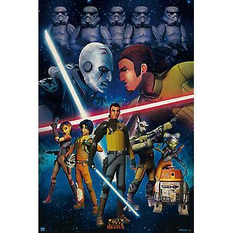 Star Wars Rebels Duel Poster Poster Print