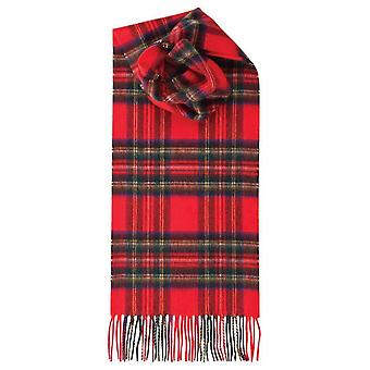 Johnstons of Elgin Royal Stewart Lambswool Tartan Scarf - Red/Blue