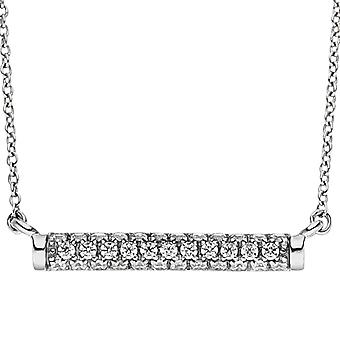 Necklace necklace 925 sterling silver with 35 cubic zirconia necklace 45 cm silver chain