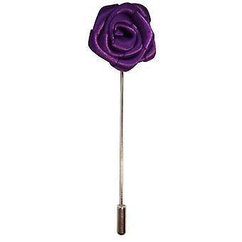 Bassin y Prendedor de flor rosa marrón - púrpura