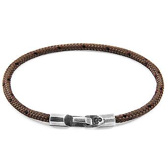Anchor and Crew Talbot Silver and Rope Bracelet - Brown