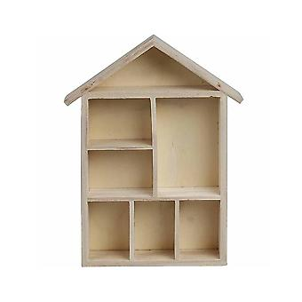 House Shaped Shelving for Home Decor Crafts 30x22x4.5cm