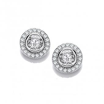 Cavendish French Glitzy Girl CZ Solitaire Earrings