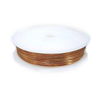1 x Peach Plated Copper 0.3mm x 20m Round Craft Wire Spool HA16015