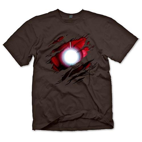 Mens T-shirt - Iron Man onder Shirt Effect - film Superhero