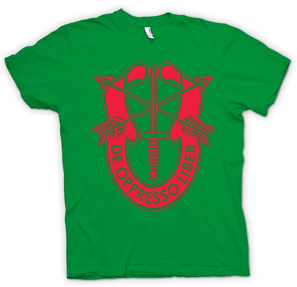 Mens T-shirt - De Oppresso Liber US Special Forces Batch