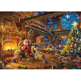 Gibsons Kinkade Santa's Workshop Jigsaw Puzzle (1000 pieces)