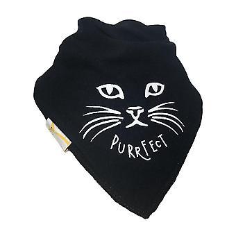Black purrfect bandana bib