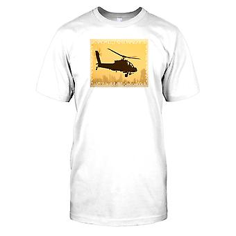 Boeing Apache Helicopter Kids T Shirt