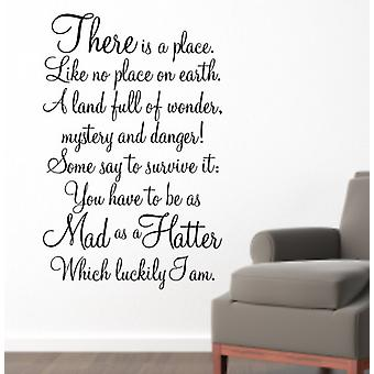 Mad as a Hatter wall quote sticker