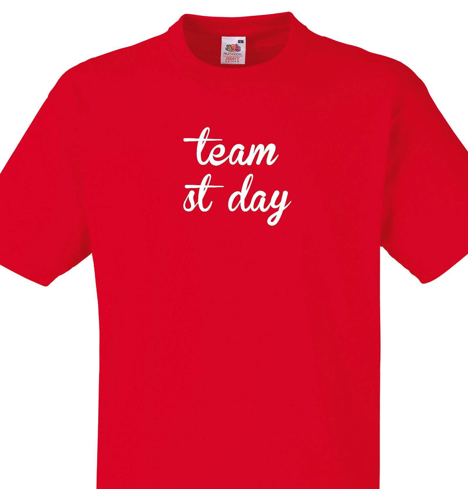 Team St day Red T shirt