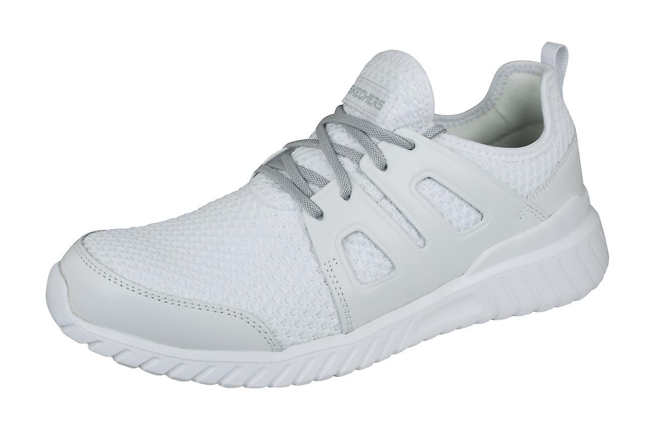 Skechers Rough Cut formateurs occasionnels Mens chaussures - blanc