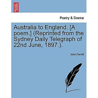 Australien nach England. Ein Gedicht. Nachdruck aus der