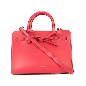 Mansur Gavriel Red Leather Shoulder Bag
