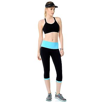 Jerf- Womens-patras-black And Neon Blue- Active Tight