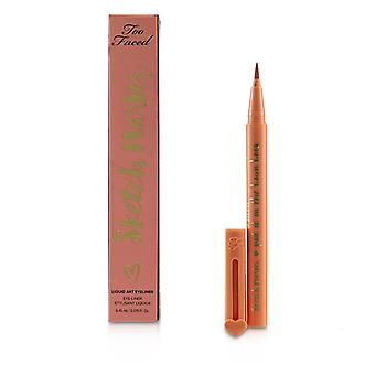 Too Faced Sketch Marker Liquid Art Eyeliner - # Papaya Peach - 0.45ml/0.015oz