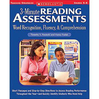 3-Minute Reading Assessments Prehension - Word Recognition - Fluency -