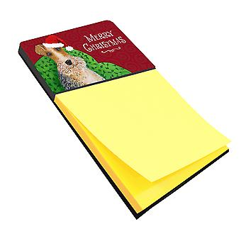 Carolines Treasures  VHA3040SN Wire Fox Terrier Christmas Sticky Note Holder