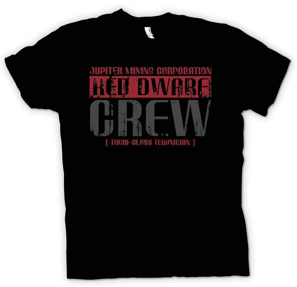 Mens T-shirt-Jupiter Mining Corp.  Zwerg-Crew - 3. Klasse-Techniker