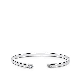Purple Heart Merit Engraved Diamond Cuff Bracelet