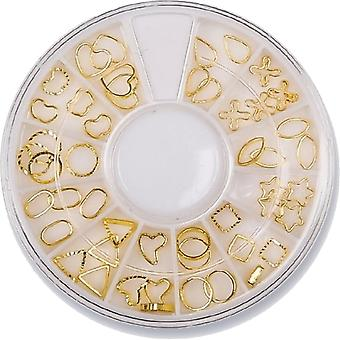 The Edge Nails Amy G - 3D Nail Art Decoration Wheel - Gold (48 PCS) (3003002)