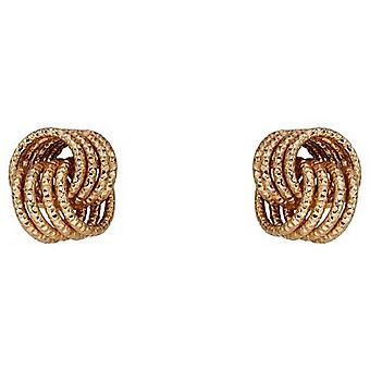 Elements Gold Knot Stud Earrings - Gold