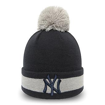 New Era Bommel Beanie KIDS Winter Hat - NY Yankees
