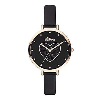 s.Oliver Quartz Women's Analog Clock with SO-3833-LQ Leather Belt